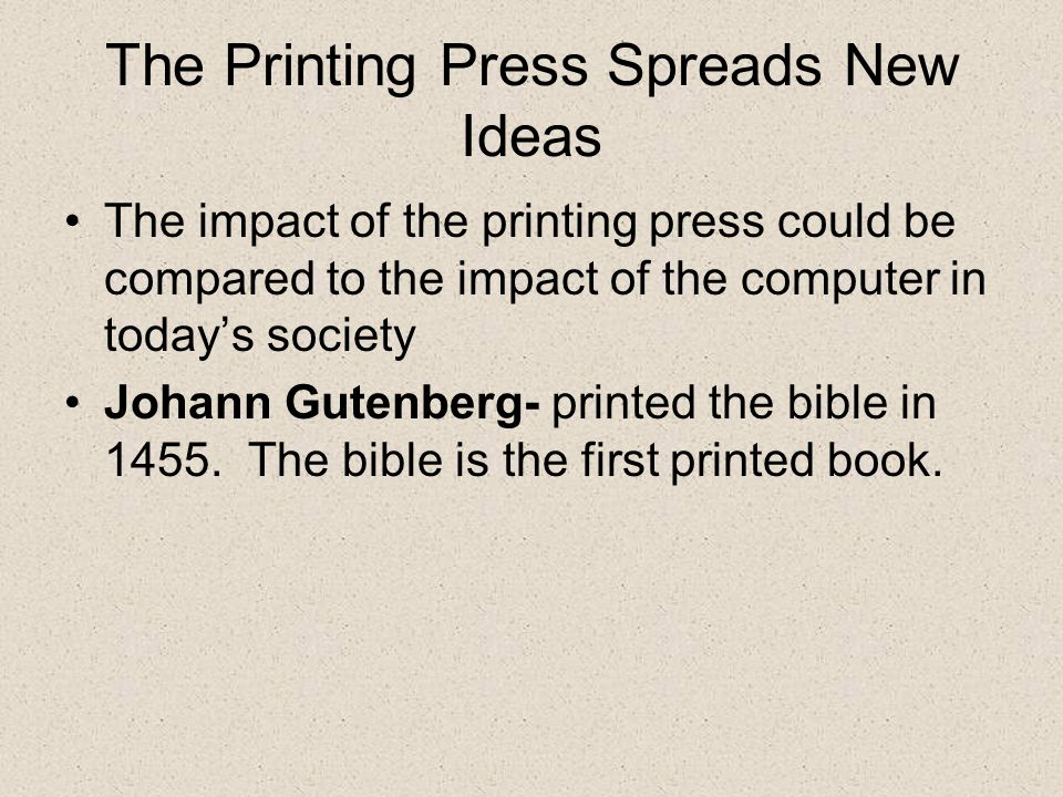 printing press reformation § 92 the printing-press and the reformation the art of printing, which was one of the providential preparations for the reformation, became the mightiest lever of protestantism and modern culture the books before the reformation were, for the most part, ponderous and costly folios and quartos in .