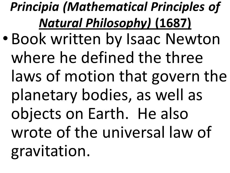 the mathematical principles of natural philosophy pdf