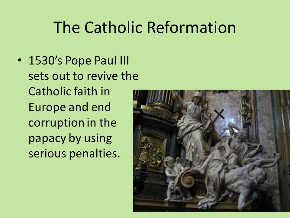 The protestant reformation ppt video online download the catholic reformation ccuart Choice Image