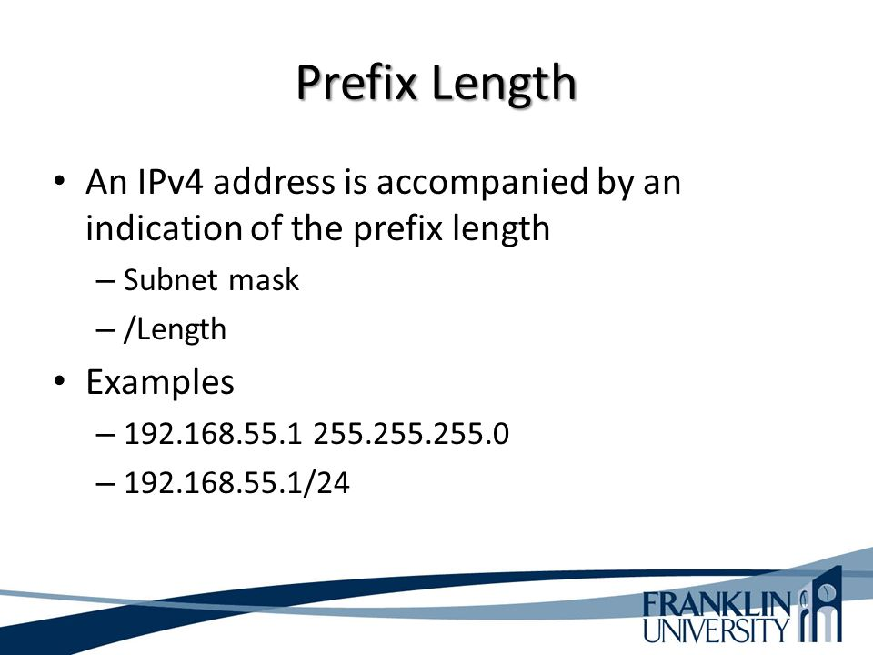 how to find subnet prefix length