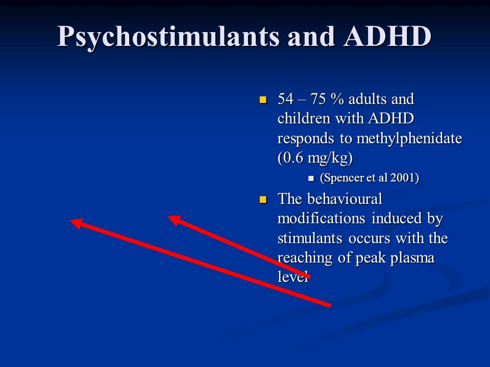 Psychostimulants and ADHD