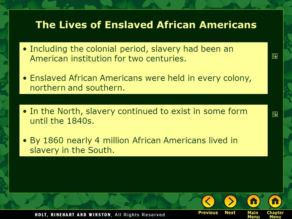 what was life like for enslaved Colonial life in 1775, over two million people lived in the thirteen american colonies and about 500,000 of them lived  what was life like for enslaved people on.