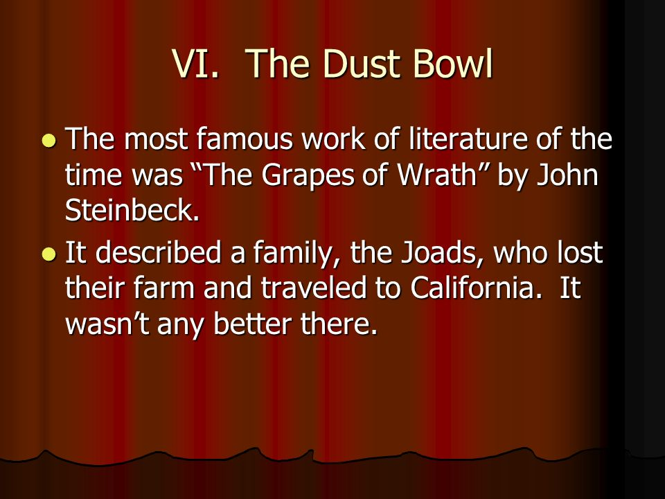 family struggles as described in john steinbecks the grapes of wrath The fictional joad family of the novel was an example of the jane darwell and dorris bowdon in john ford's film of john steinbeck's novel the grapes of wrath.