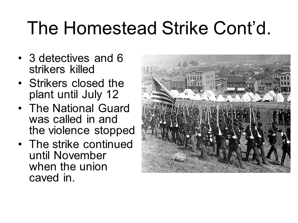 The Homestead Strike Cont'd.