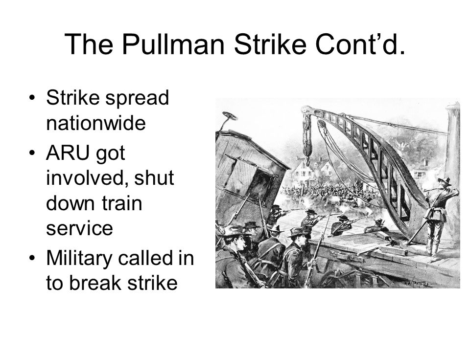 The Pullman Strike Cont'd.