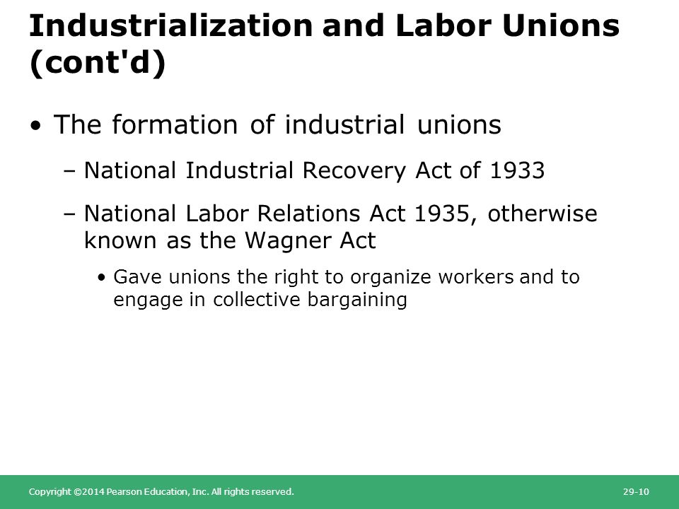national labor relations act formation of National labor relations act appointed members of the national labor relations to dominate or interfere with the formation or administration of a labor.