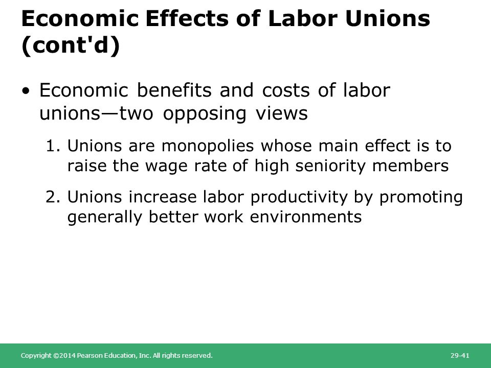 effect of labor unions economic performance The ripple effect of union strikes the united auto workers 1998) the labor department recorded a 2 point rise in the cpi (1984 financial and economic effect.