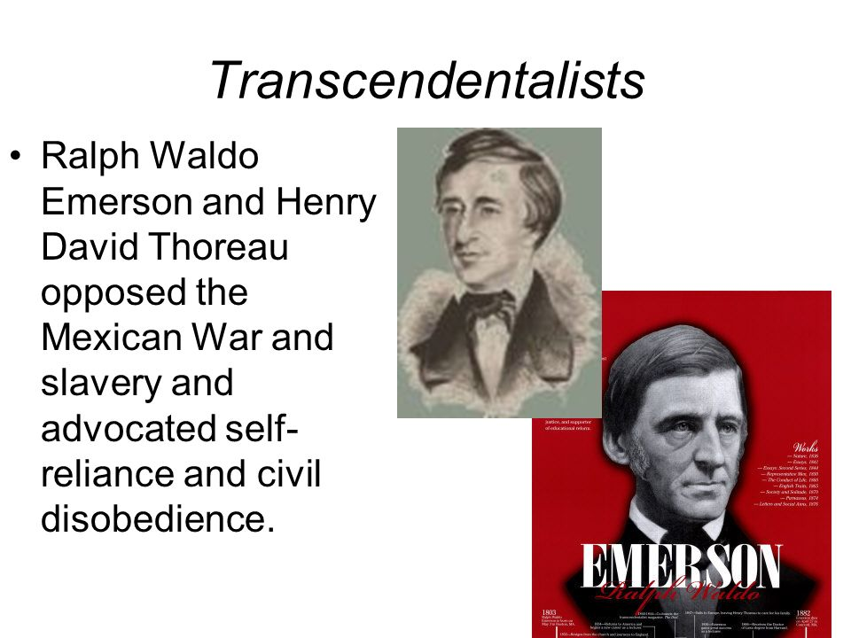 Transcendentalist ideas of henry david thoreau and ralph waldo emerson