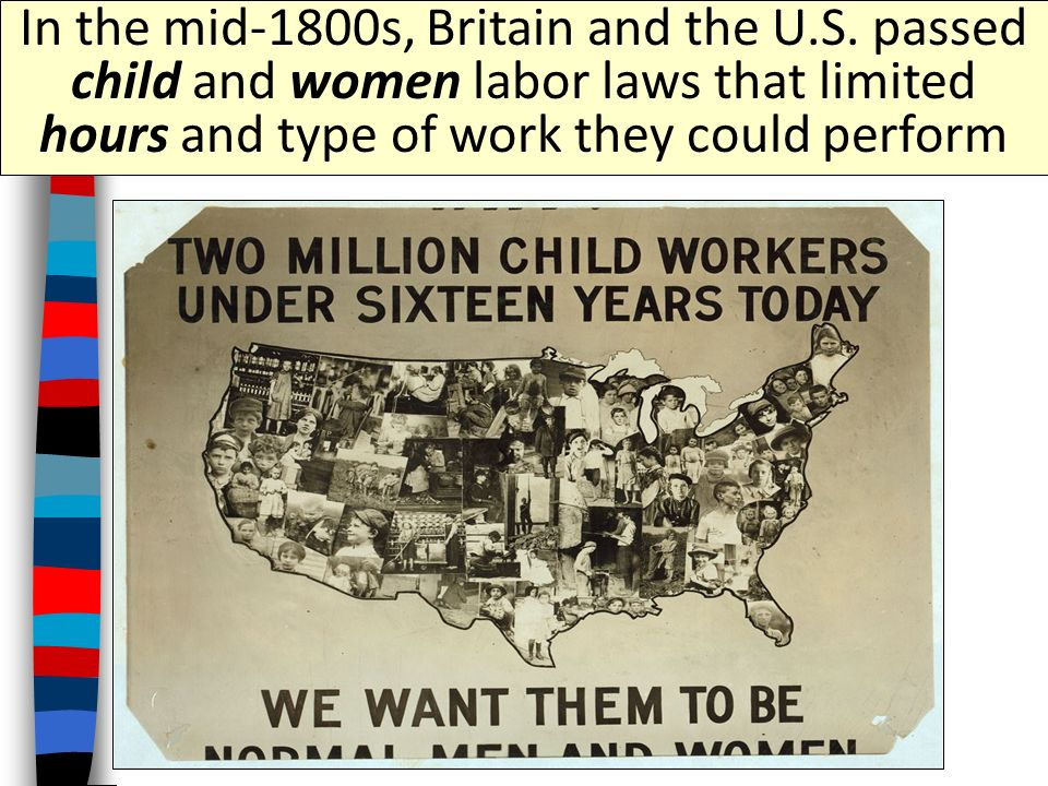 child labor laws in the 1800 s 1800's child labor in america this article provides facts and information about child labor in america during the 1800's this was the time when the industrial revolution and the process of industrialization transformed america from a rural, agricultural to a city based industrial society that resulted in a massive increase in child labor during the 1800's.
