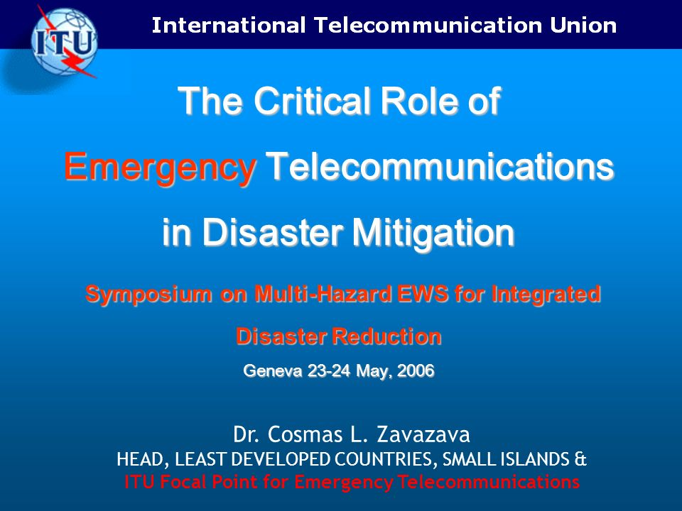 ITU Focal Point for Emergency Telecommunications
