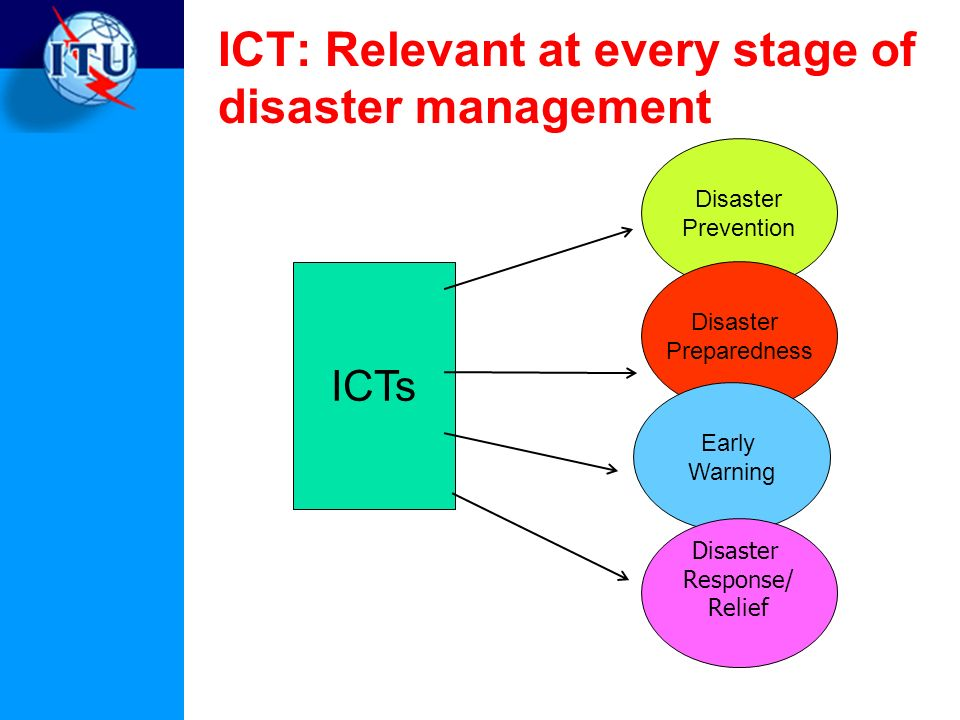 ICT: Relevant at every stage of disaster management