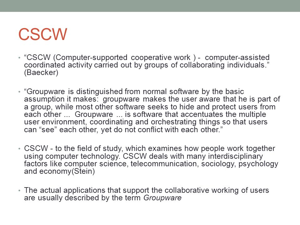 a study of groupware A usability study of awareness widgets in a shared workspace groupware system carl gutwin, mark roseman, and saul greenberg department of computer science, university of calgary.