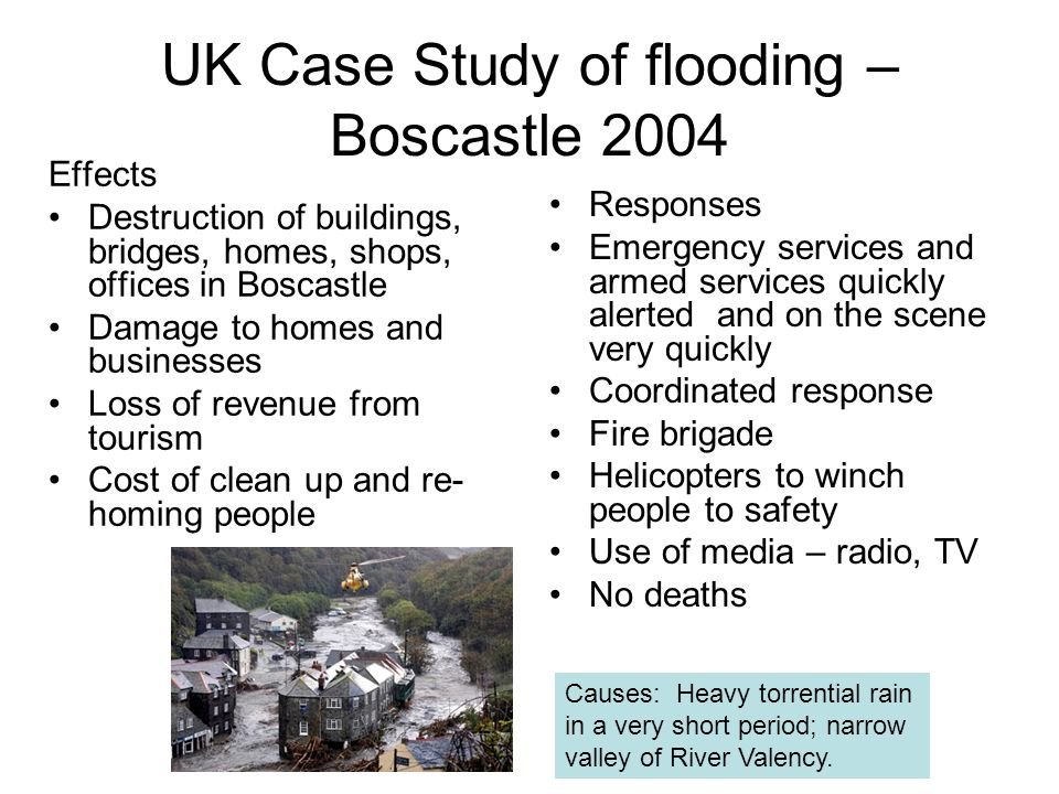 boscastle case study geography Lesson covers: the causes (meteorological) and effects of the boscastle flash  flood lesson involves: starts with a spot the difference.