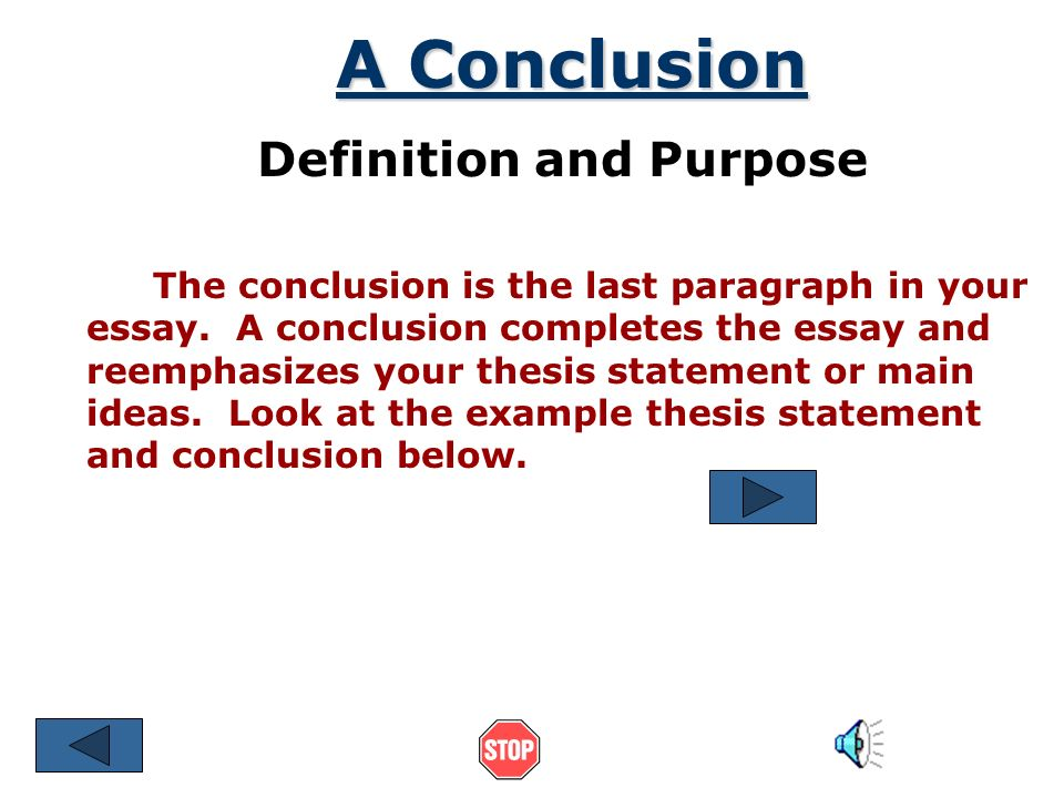 thesis sentence meaning