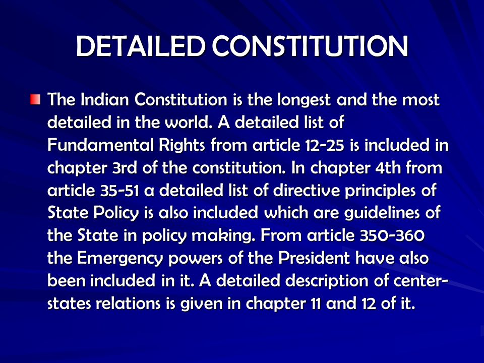 indian constitution articles list pdf