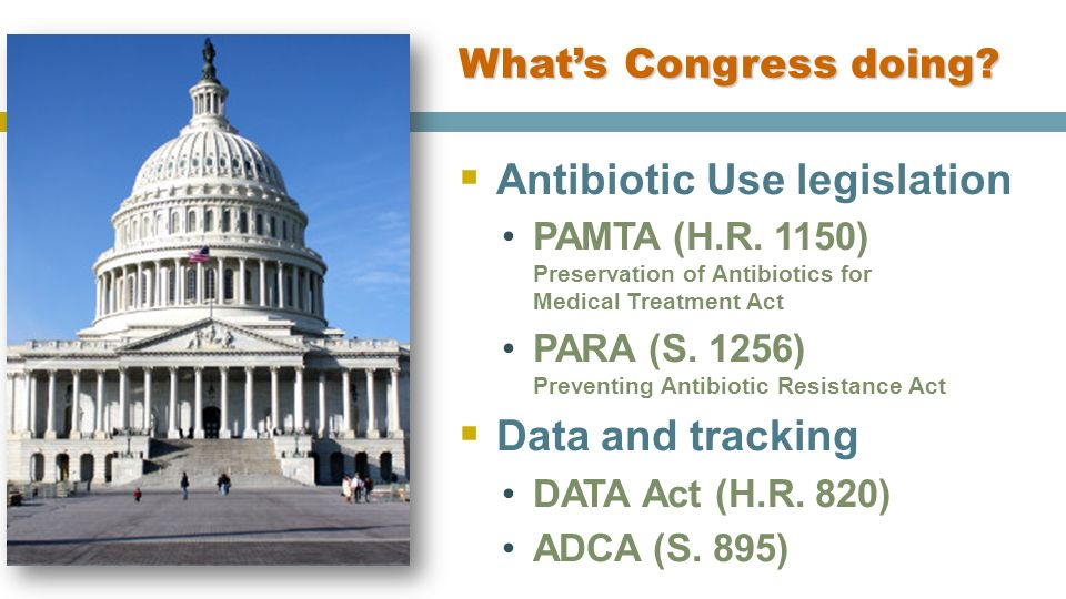 Antibiotic Use legislation