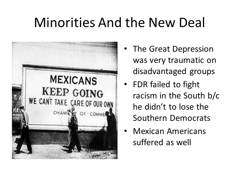 Minorities And the New Deal
