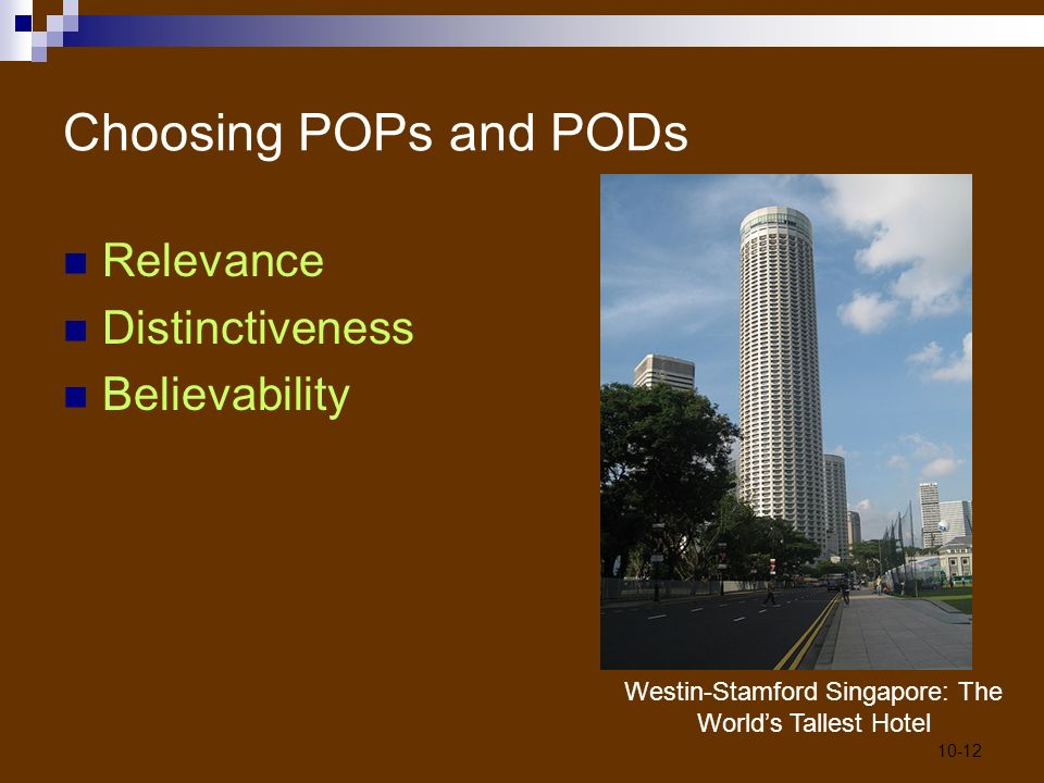 10 crafting the brand positioning ppt video online download for Tallest hotel in singapore