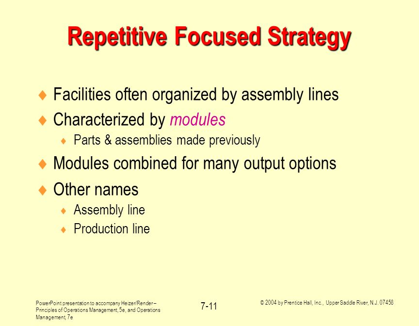 Repetitive Focused Strategy