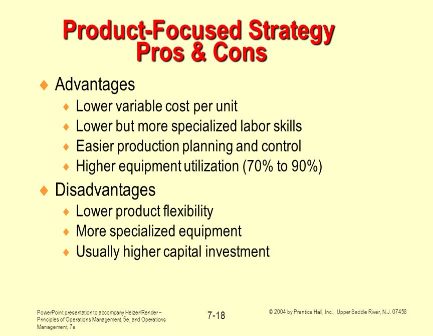 Product-Focused Strategy Pros & Cons