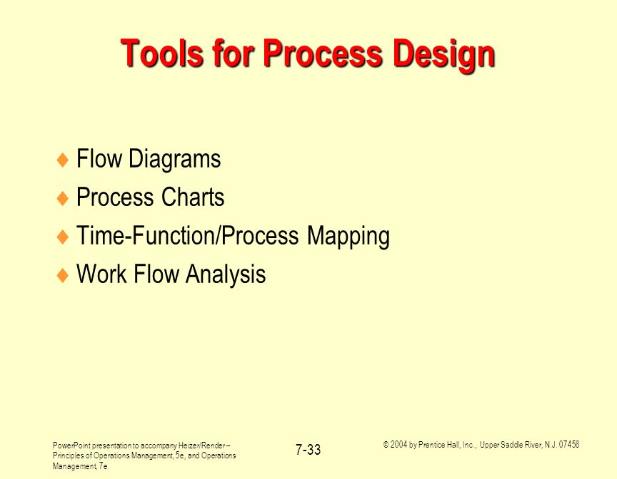 Tools for Process Design