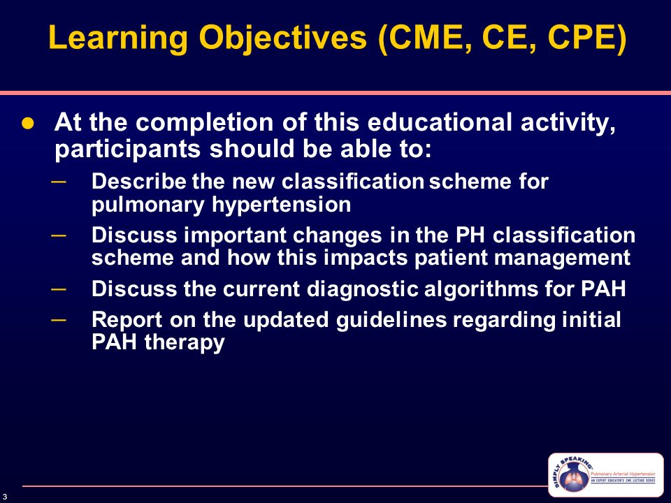 Consensus Updates in PAH Classification, Screening and ...