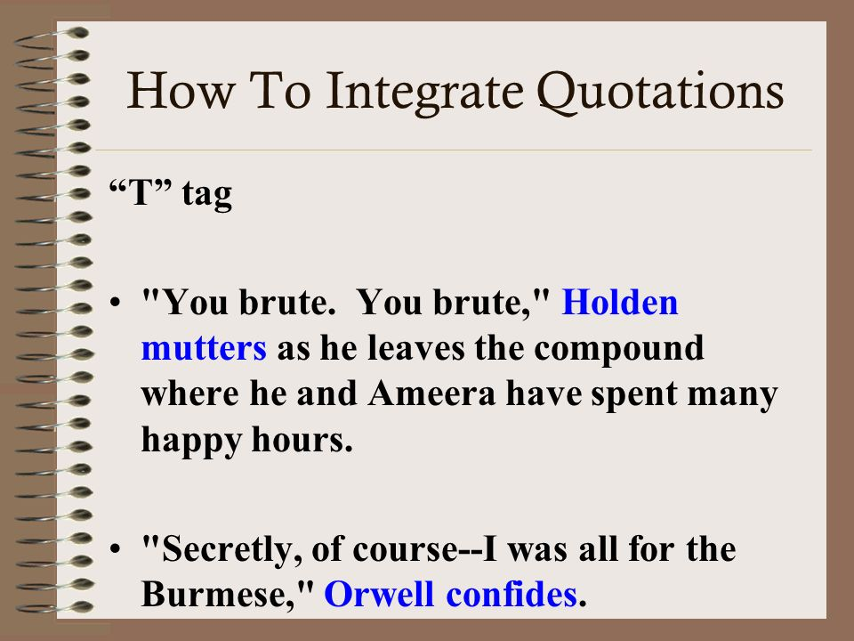 Basics of Writing in AP Literature ppt download – Integrating Quotes Worksheet