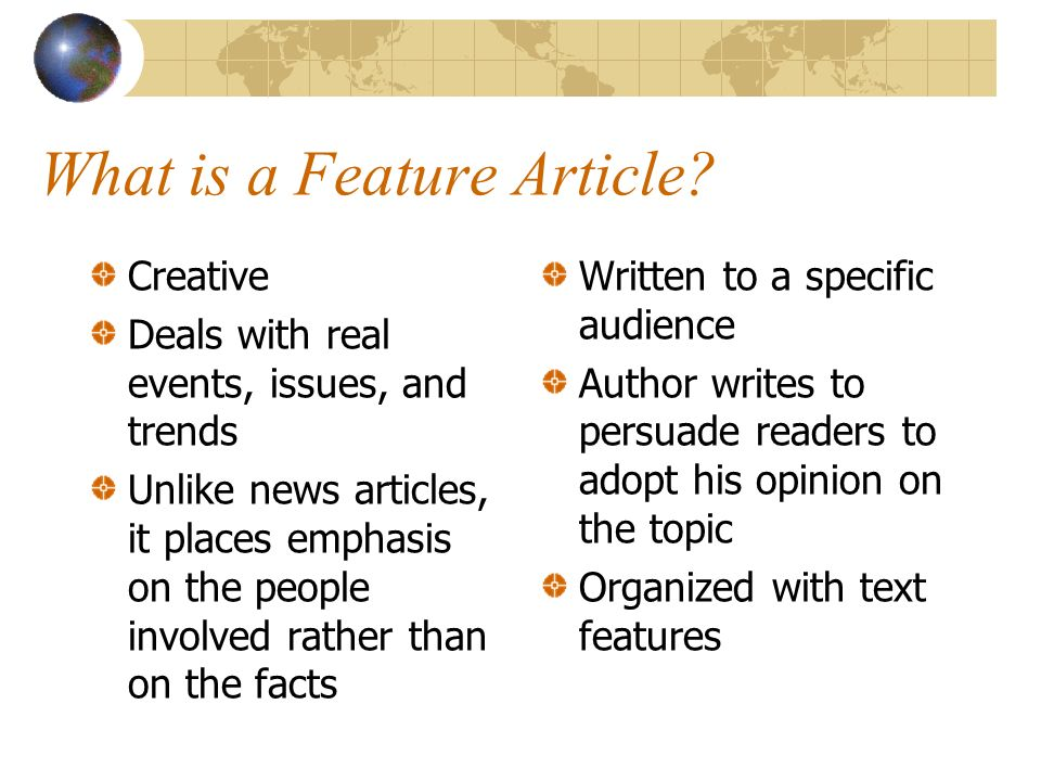how to write an opinion feature article