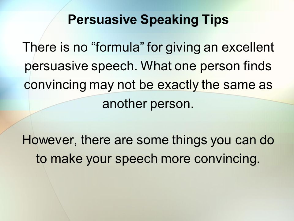 434 Good Persuasive Speech Topics