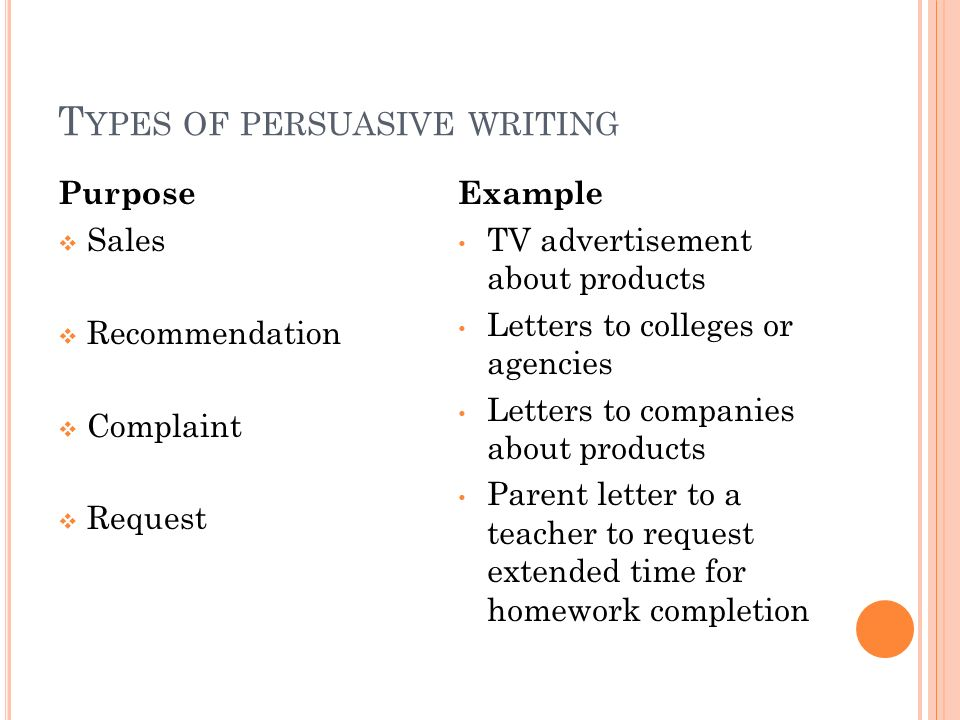 th grade writing persuasive letters ppt video online  types of persuasive writing