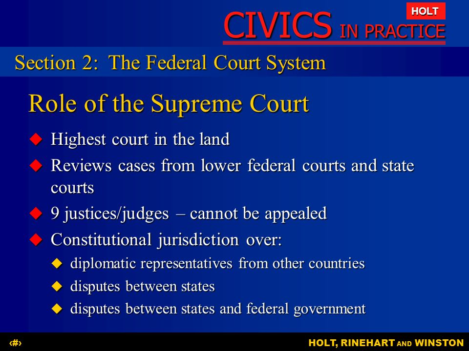 Role of the Supreme Court