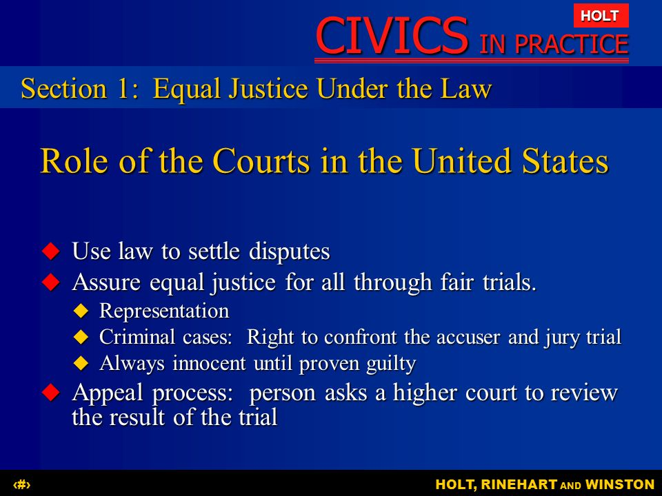 Role of the Courts in the United States