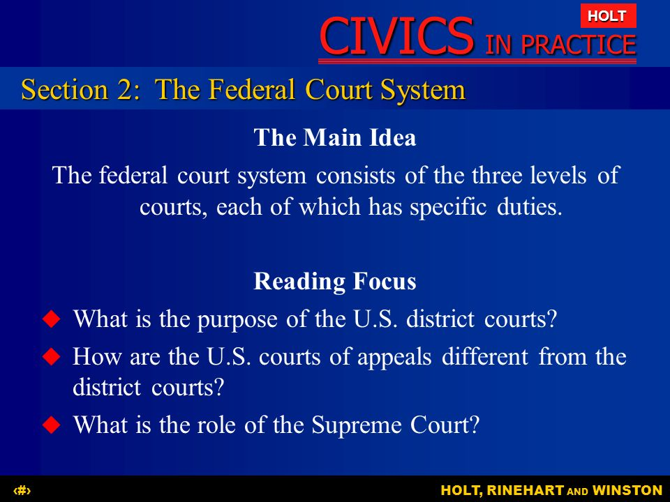 Section 2: The Federal Court System