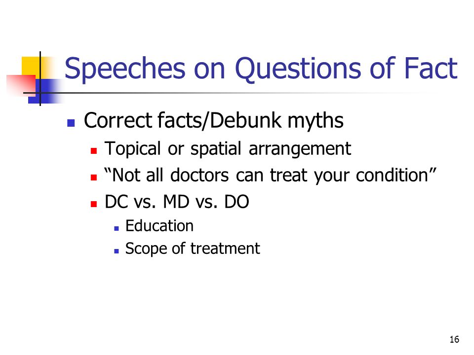 persuasive speeches deal with questions of value fact and A persuasive speech is a speech given with the intention to convince your  audience to accept a certain opinion, fact, or viewpoint in this lesson  opinion,  fact, or viewpoint in this lesson you will learn about factual, value, and policy  persuasive speeches  it questions the moral or ethical aspect of an issue for  example.