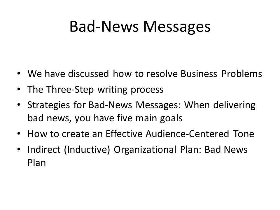 how to communicate bad news effectively How to communicate bad news effectively and stay human as a professional julia samuel all together better health v111 oxford 6-9 september communicating bad news effectively.
