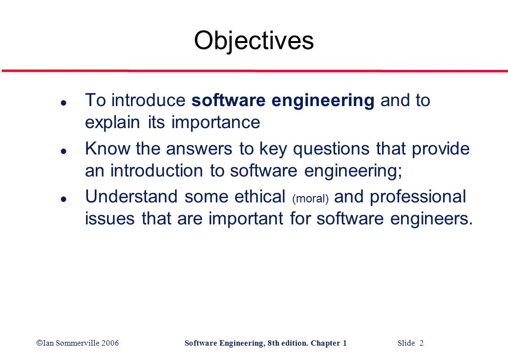 the important of software engineering What is a software development process a  software engineering processes are composed of  specifications are most important for external interfaces that.