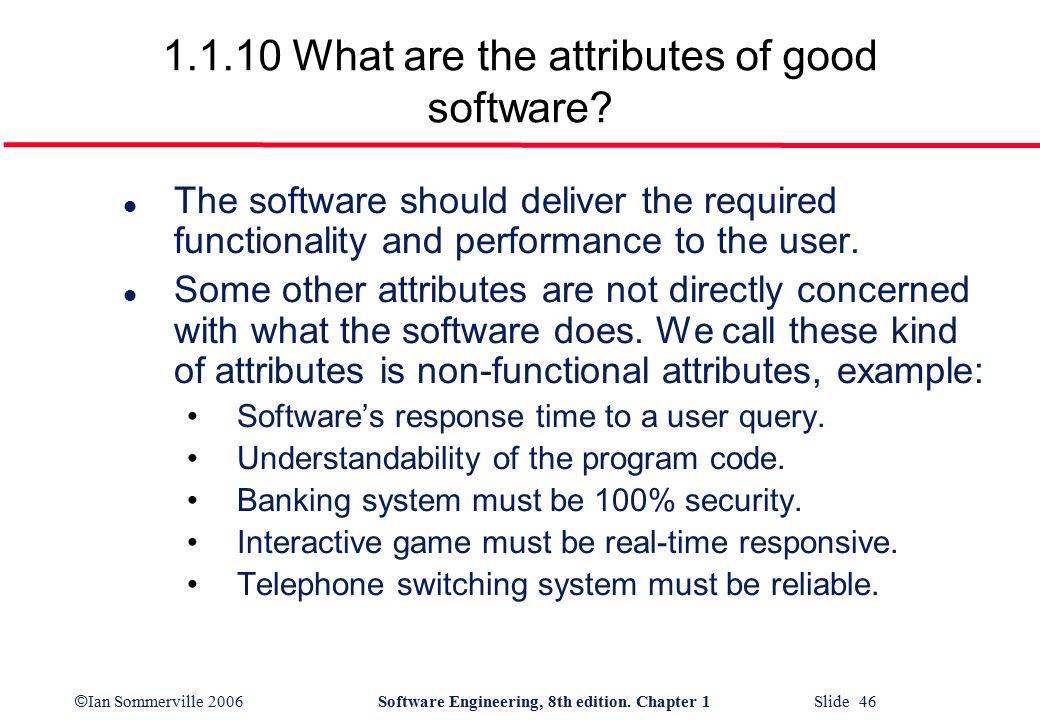 Characteristics Attributes Of A Good Software Design