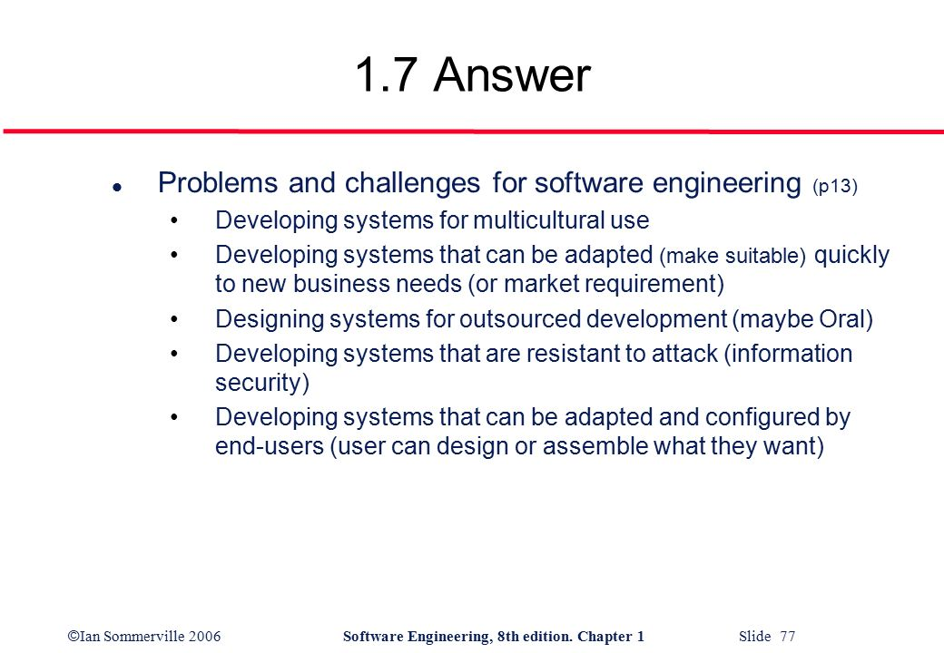 issues and challenges of requirement engineering Model based software development: issues & challenges special issue of international journal of computer science & informatics (ijcsi), issn (print .