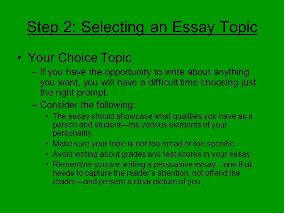a choice i had to make essay Flanagan wrote this essay for an english 101 class at a local community  can  be made at any point in your life, if you have the right motivation.