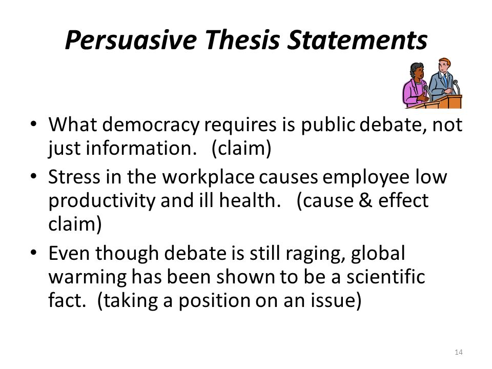 global warming persuasive essay thesis This persuasive essay sample covers the causes and mitigation of the global warming use it as an example for your own research it is an indisputable truth that global warming has become a major challenge and a cause of worry to humans who are at risk of extinction, bearing in mind the rate of.