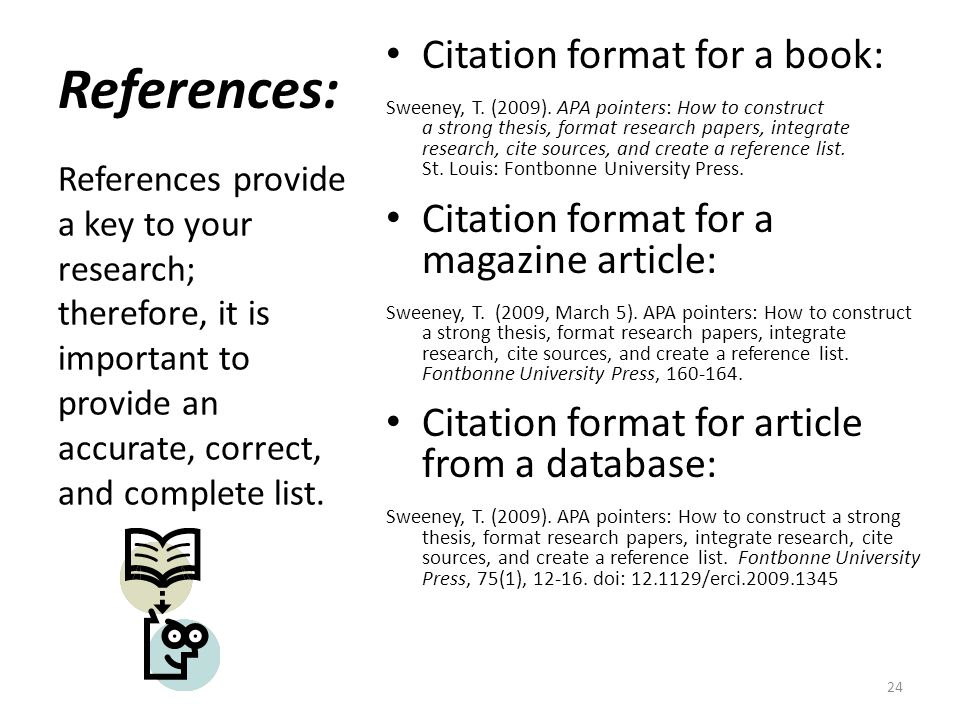 reference page format research paper