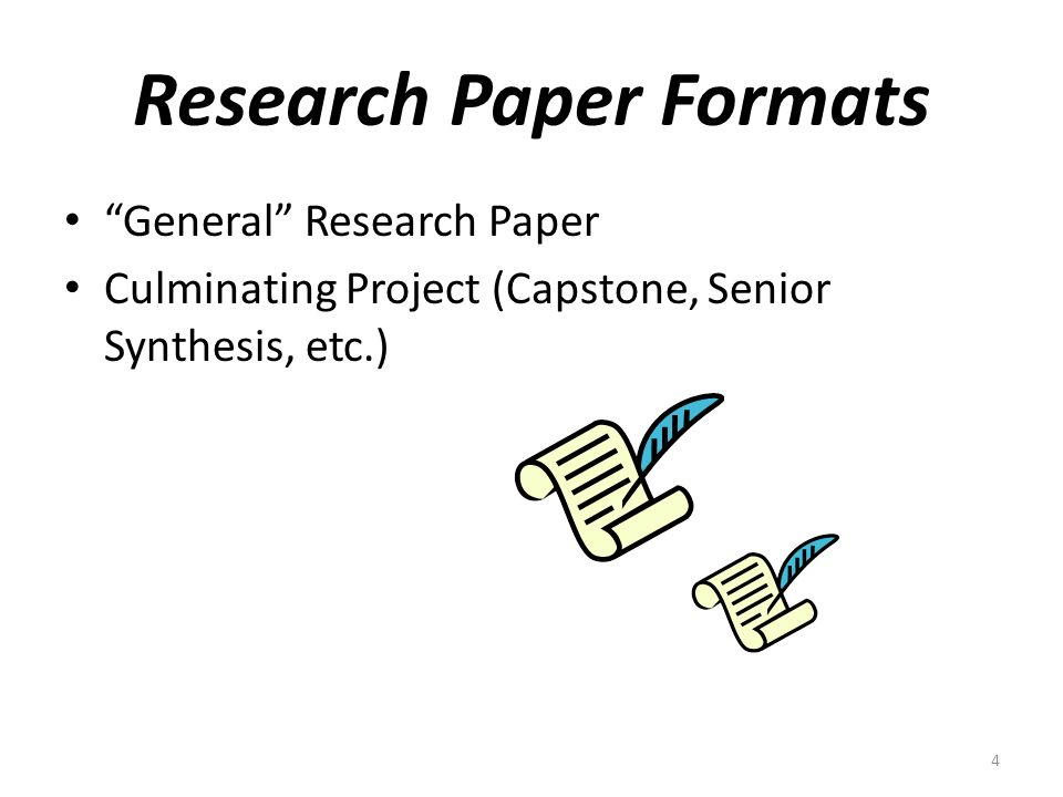 general format of research papers The discussion section is often considered the most important part of your research paper because this is where you: i general rules these are the.