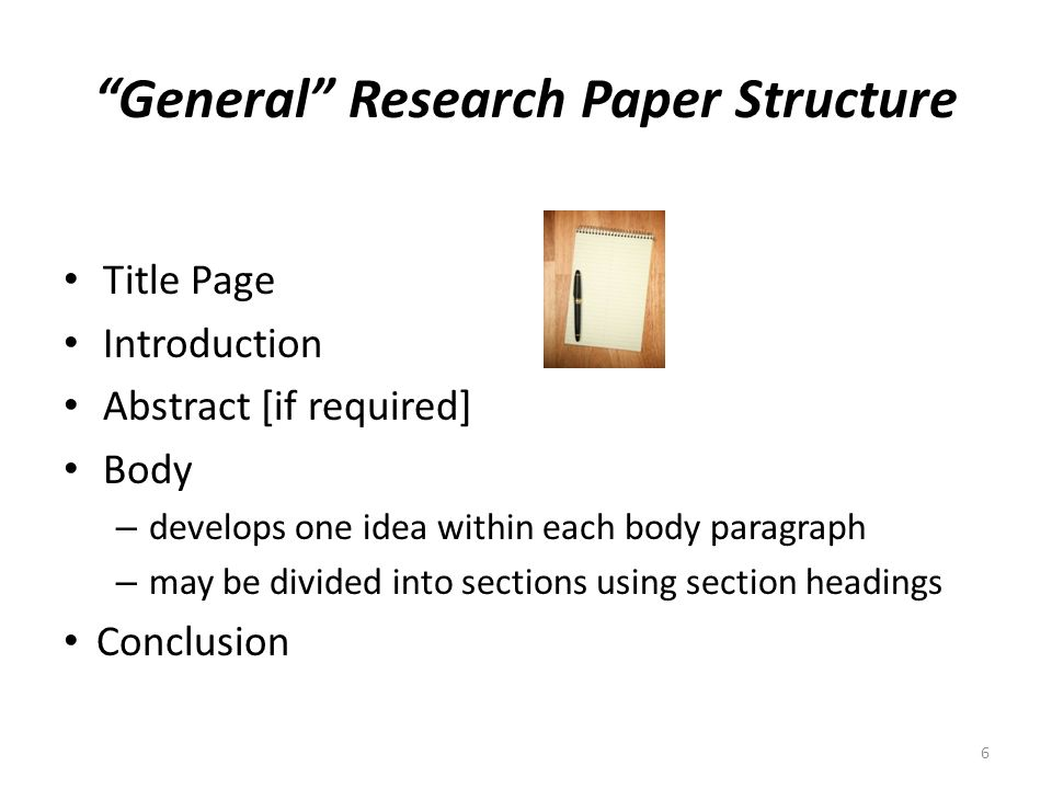 create apa research paper outline