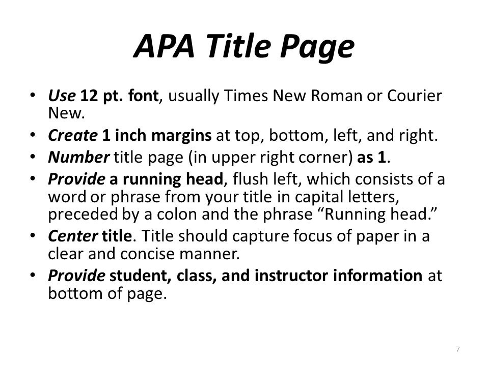 how to put running head and page number