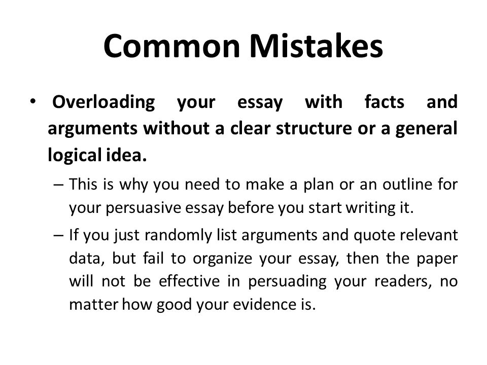 structure of a general persuasive essay