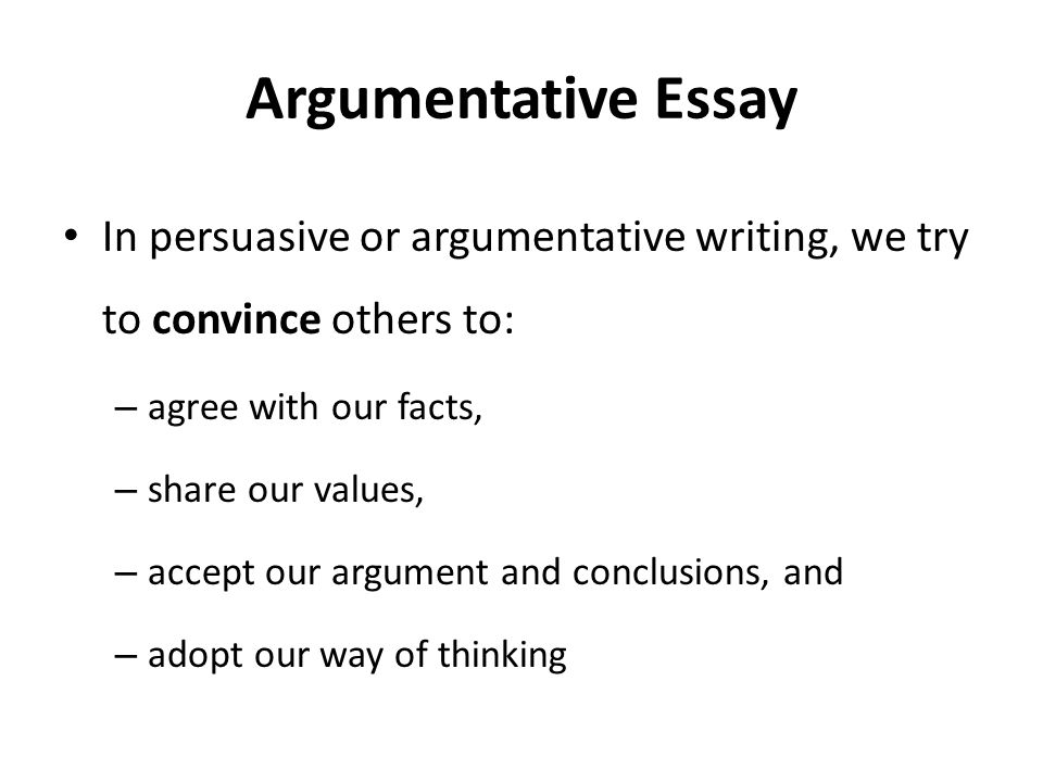 comparative argumentative essay A comparative essay is a writing task that requires you to compare two or more items you may be asked to compare two or more literary works, theories, arguments or.