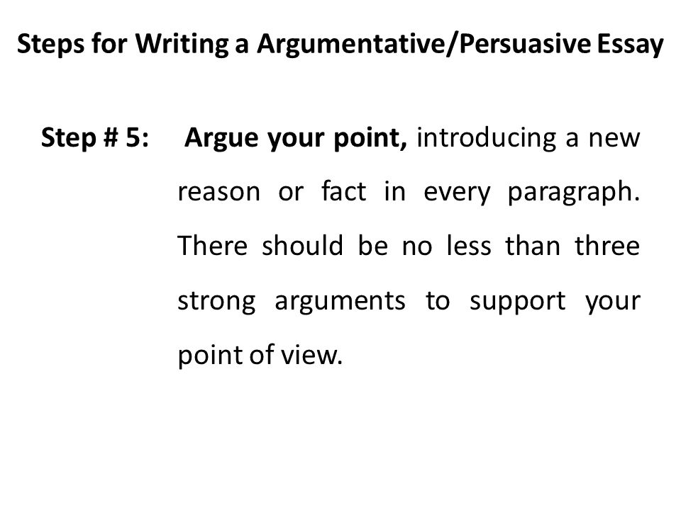 steps to writing an argumentative essay In this lesson you will learn to write an introductory paragraph to engage the  reader in the topic by telling your reader why this issue is important.