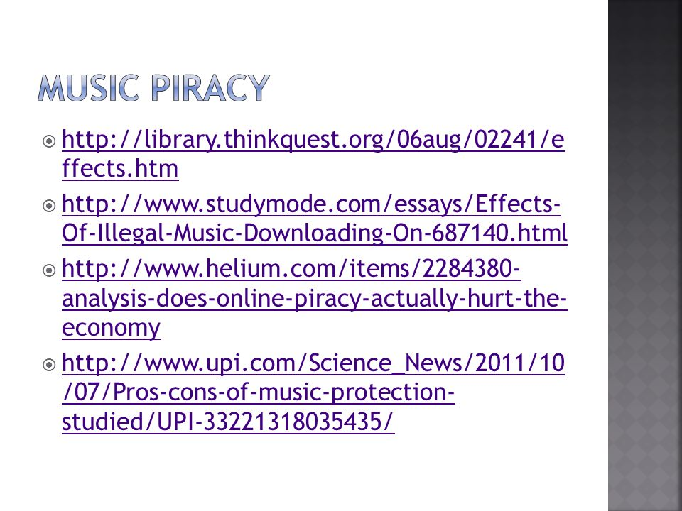 Illegal music downloading essay example | Homework Sample