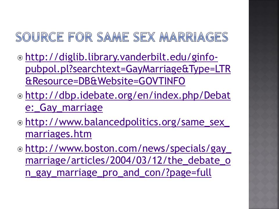 debate on gay marriage essay This is not an example of the work written by our professional essay writers what are the reasons for and against gay marriage the same-sex marriage debate.