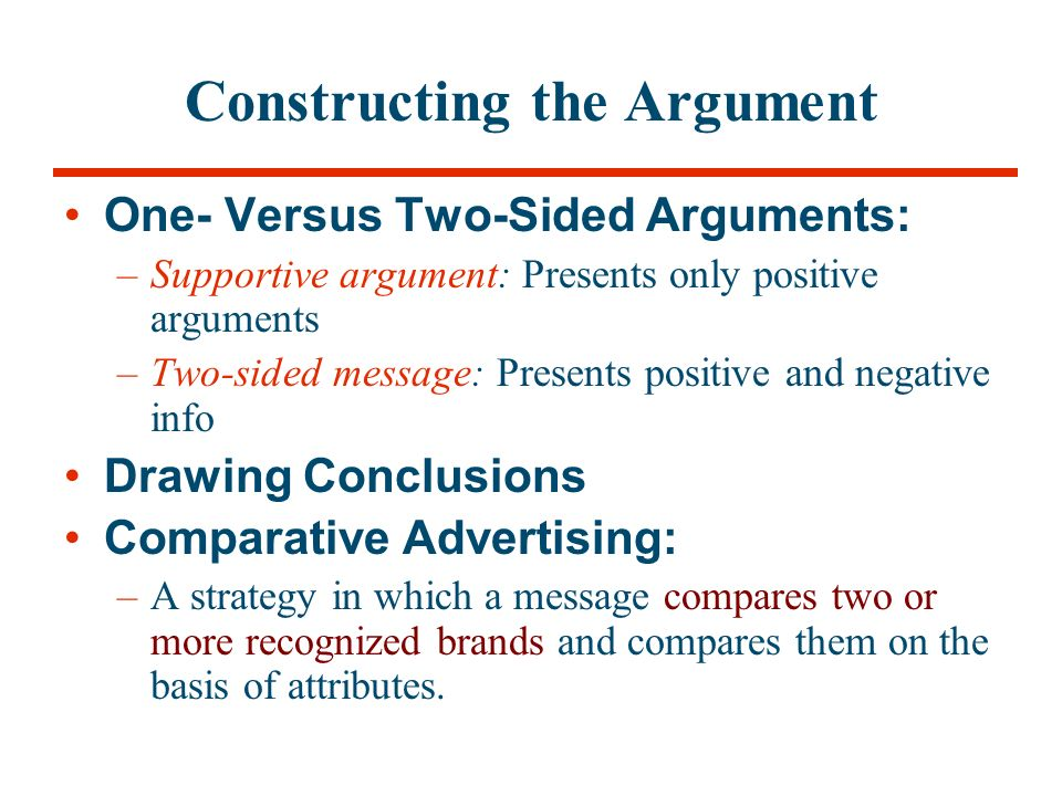 two sided argument essay Presenting both sides of an issue can make you more persuasive because it forewarns people what they might hear later, and they strengthen their resistance.